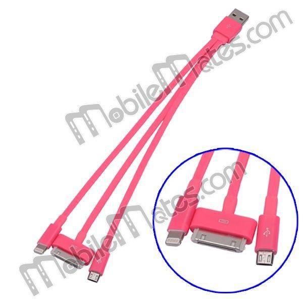 3 in 1 USB Data Sync Charging Cable (30Pin + 8Pin+ micro 5 pin)