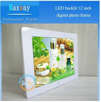 Hot sell 12 inch mirror waterproof digital photo frame,HD video input to digital frame for advertisi