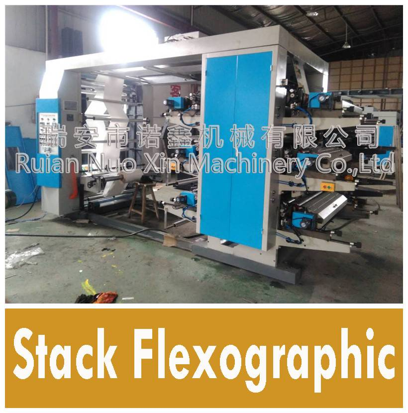 6 Color middle speed flexo printing machine