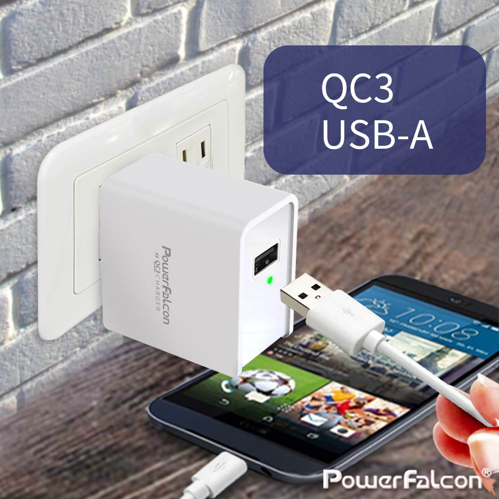Powerfalcon 18W USB-A QC3 Charger