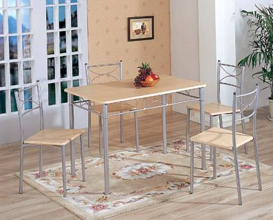 Best Selling MDF And Aluminium Table /chair Set Model2297