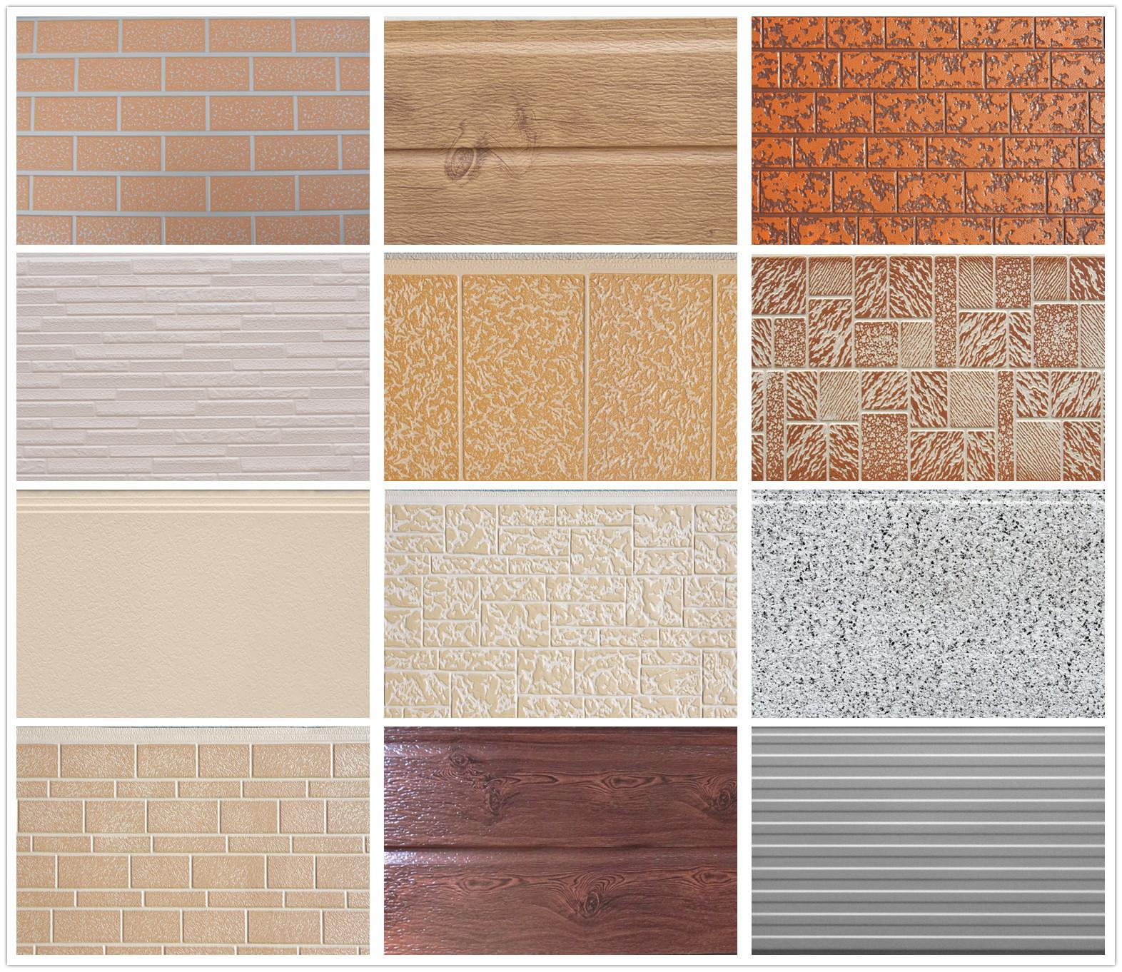 Decorative Metal Embossed Polyurethane Sandwich Wall Panel
