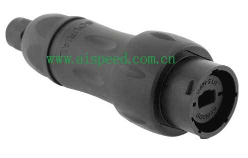 Souriau UTS1JC18MPN female connector(1 contact,cable gland backshell)