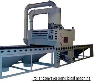 Automatic Roller Conveyor sand Blasting Machine for steel sheet