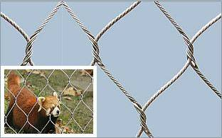 Stainless Steel Rope Woven Mesh For Stair Security