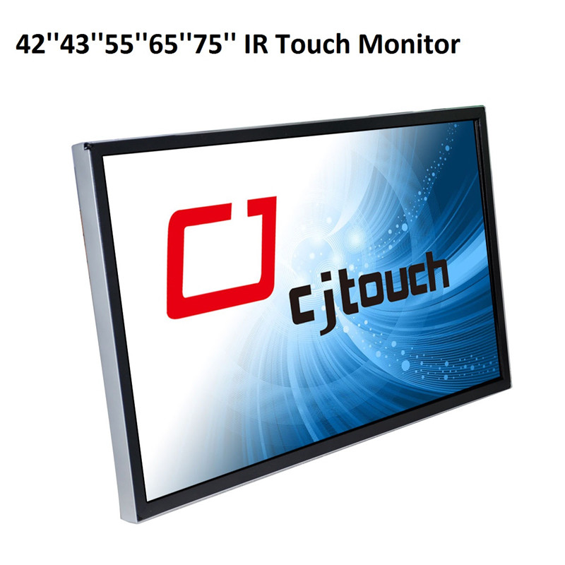 infrared touch screen large size 65 inch industrial wall mounted touch lcd monitor display
