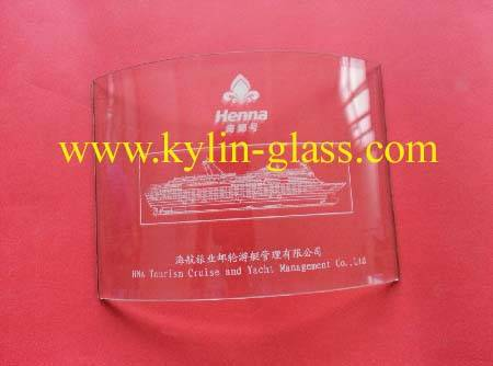arc glass plate/curved glass plate