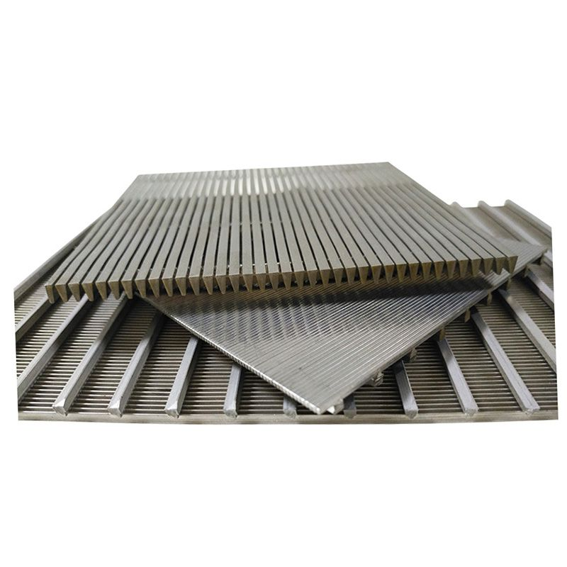 SS flat wedge v wire screen panel used for iron ore