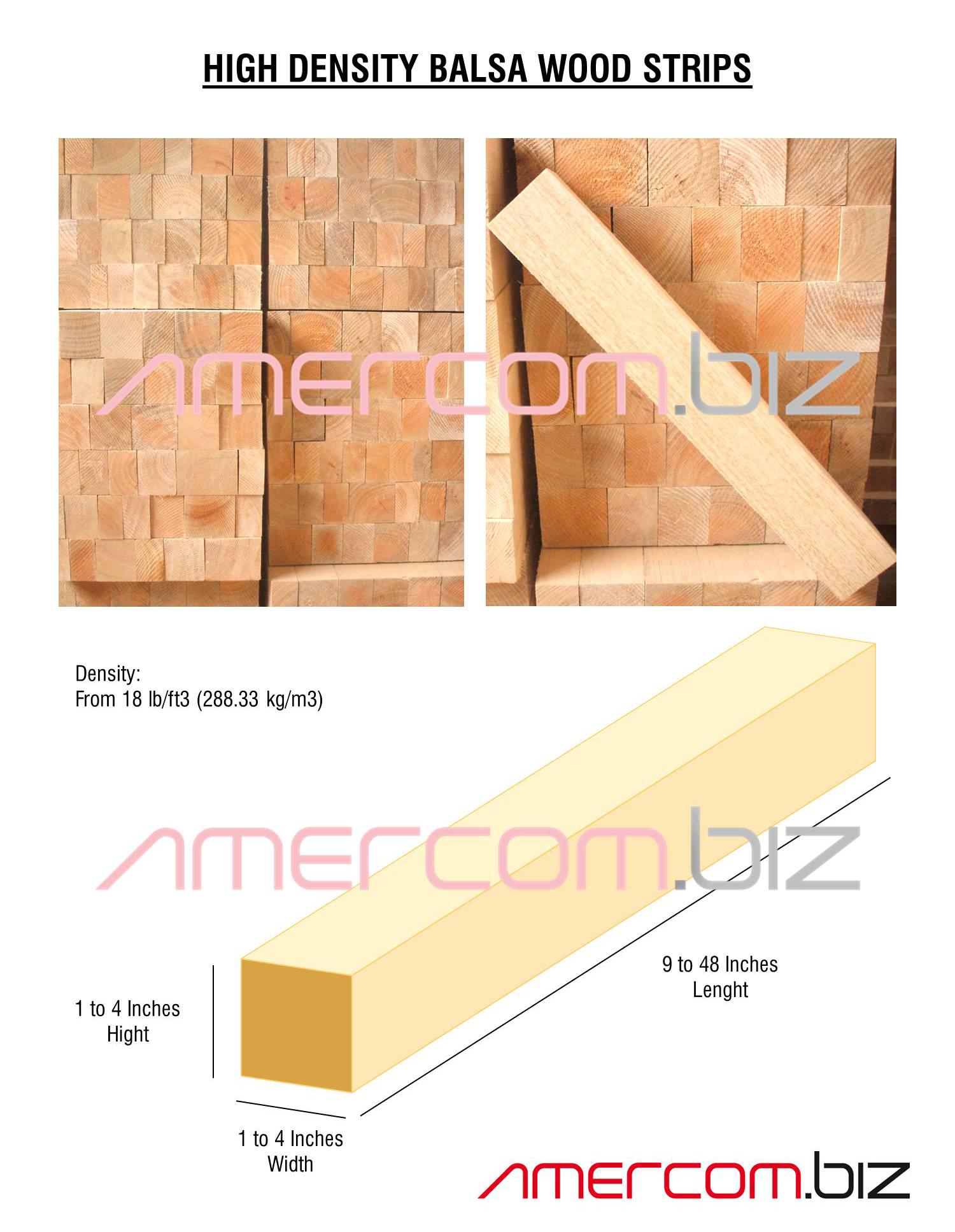 High Density Balsa Wood Strips