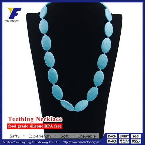 Wholesale FDA Approved Silicone Chain Jewelry Set Children Teething Necklace