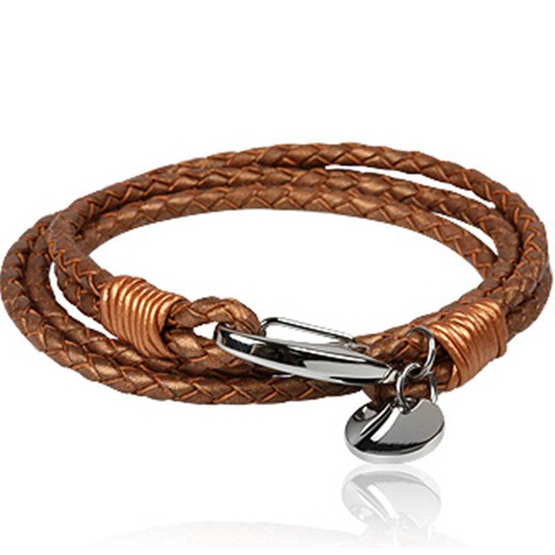 Fashion Men's Jewelry Stainless Steel Leather Bracelet (BC8847)