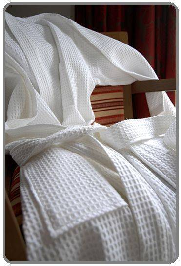 Waffle Pique Bathrobes, Waffle Kimono Bath Robes, Waffle Weave Robes