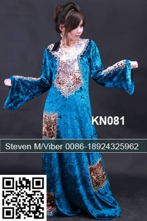 Turquoise Velvet Cocktail Caftan Maxi Jalabiya Dresses 2013