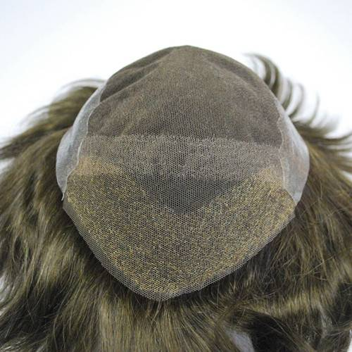 French lace PU back and side #3 stock mens toupee Hair replacement