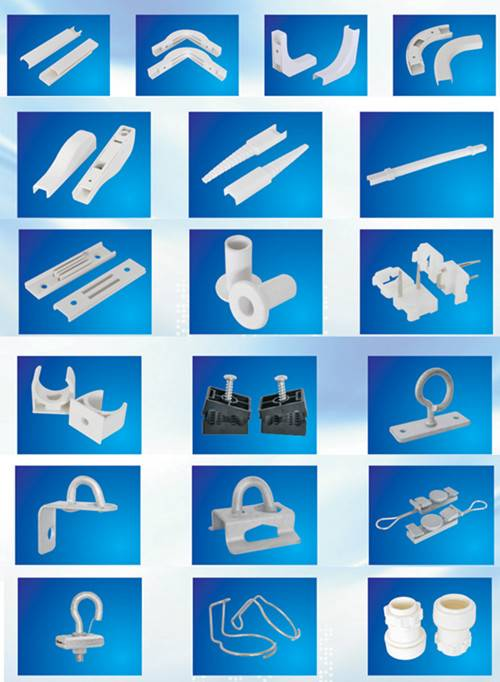 FTTH Construction Accessories, FTTH Drop Cable Accessories, Cable Duct, Cable Management, Retractor