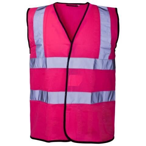 Purple safety vest with 3M reflective stripe