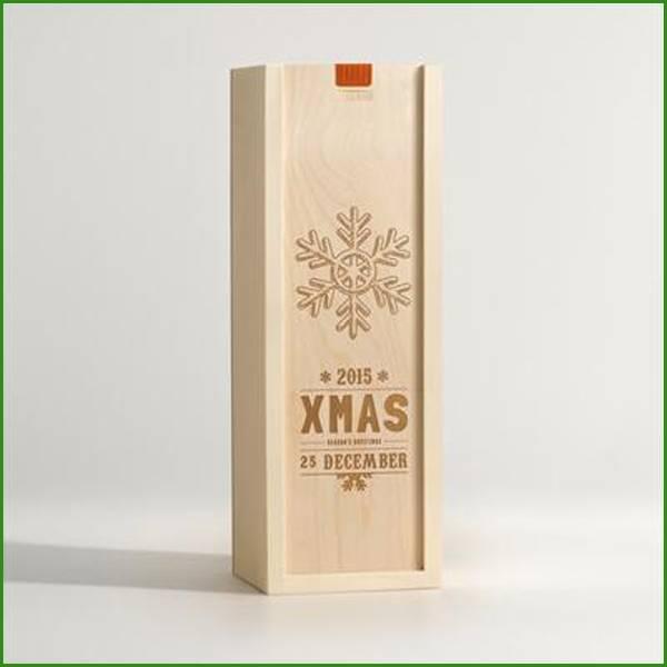 Christmas item wood wine box