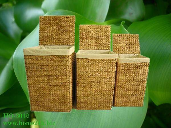 Water Hyacinth Hamper s/3, new design & high quality