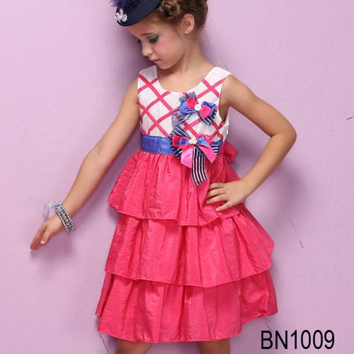 beautiful girl's dress wholesale at fillfahsion