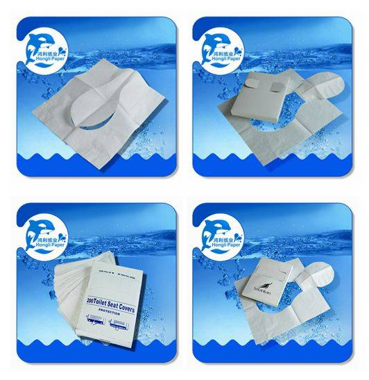 1/4 flushable toilet seat cover paper