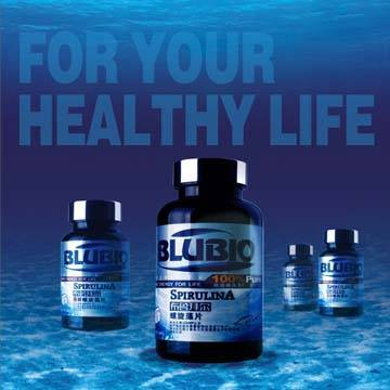 Sell BluBio Spirulina 100% Pure tablet at 180/500 tablets per bottle(USD 1-4)