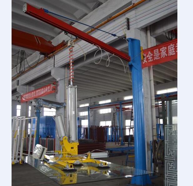 Vacuum glass lifting machine of insulating glass machine