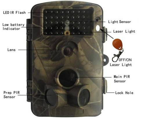 5 / 8 / 12 MP IR Wildview Trail Camera Motion Detection Night Vision