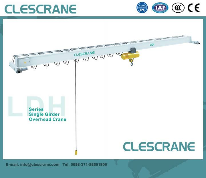 LDH Series low clearance light duty single girder overhead crane 1-16Ton $500-$5000