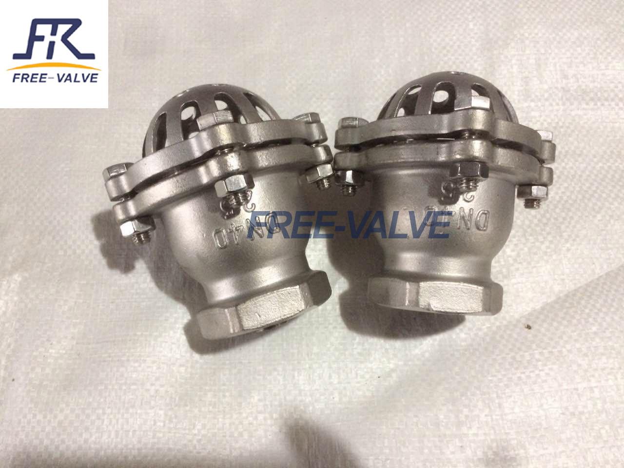 Stainless Steel Bottom Valve Lift Check Valve Screwed Foot Valve