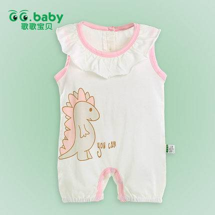 Summer Sleeveless Baby Girl Bodysuits Fashion Baby Bodysuits Girl Floral Collar Baby Clothing