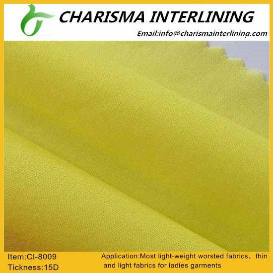 Woven fusible interlining/Woven interlining 8009