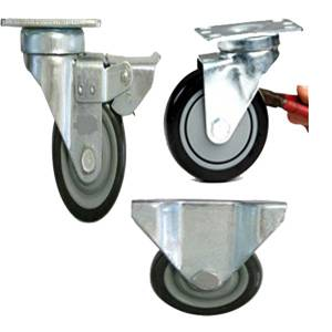 Flat plate type casters