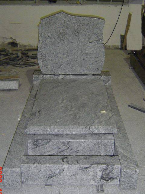 French Style Granite Tombstone