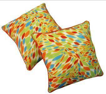 Multicolored-Printed w/piping Pillow