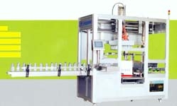 Fully-automatic bottle carton packing machine and film packing machine