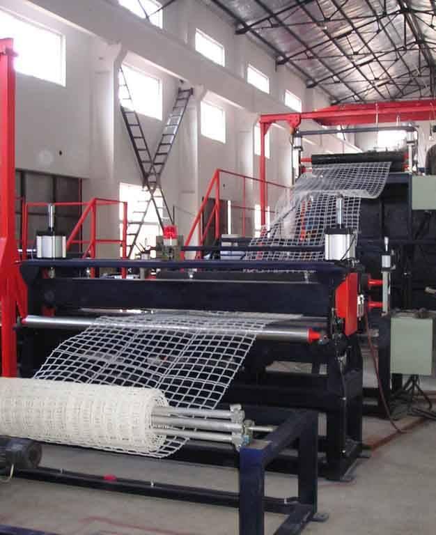 plastic square net making machine/ production line