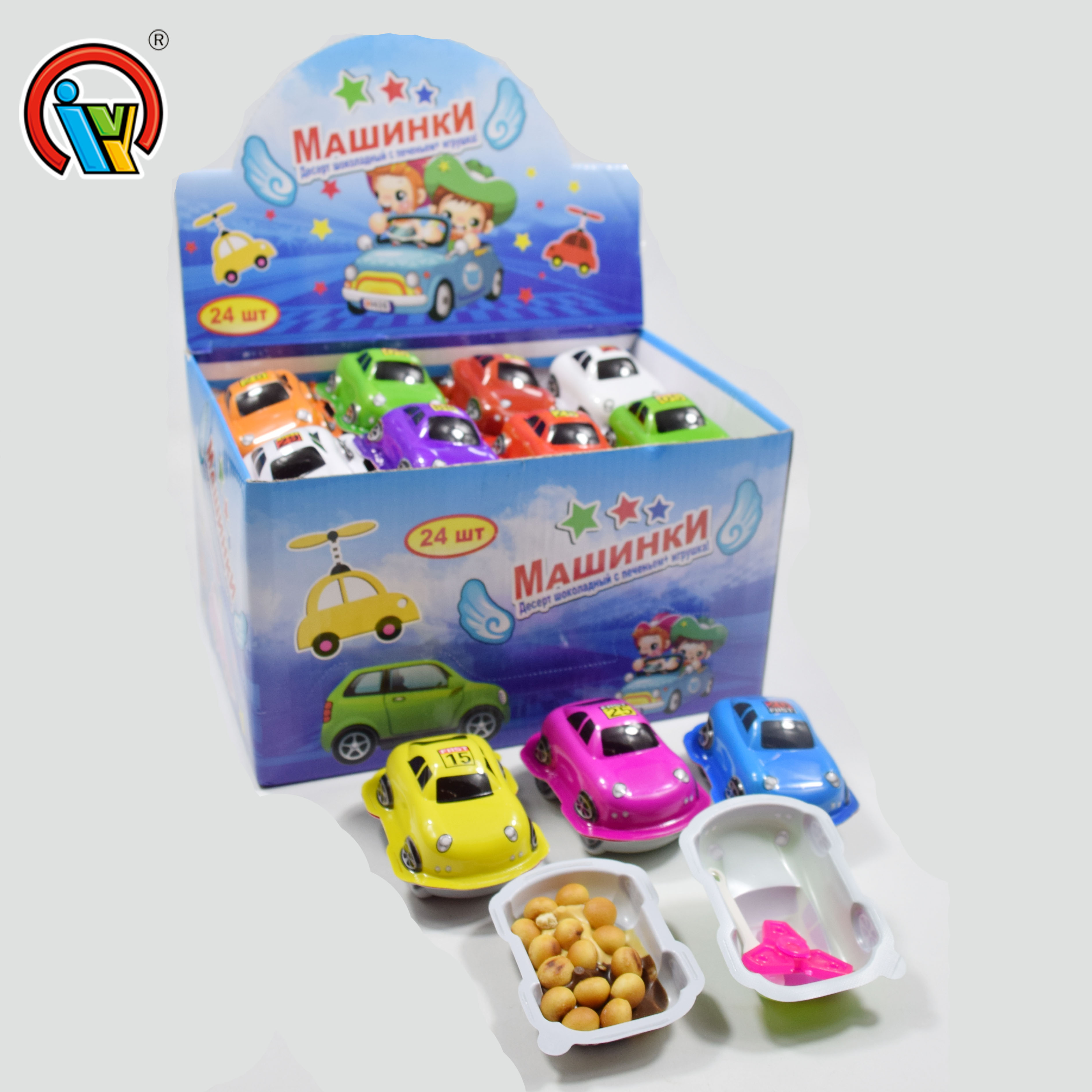 Car Shape Chocolate Biscuit And Jam Candy With Surprise Toy