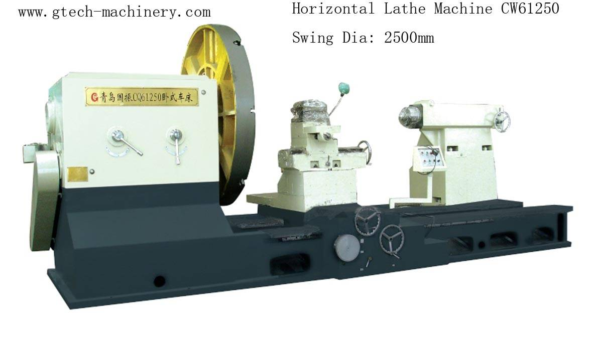 China Swing Dia / Diameter:1600mm Shaft Rotor Roll Turning Lathe Machine Horizontal Lathe Machine
