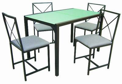 Best Selling MDF And Aluminium Table /chair Set Model0918