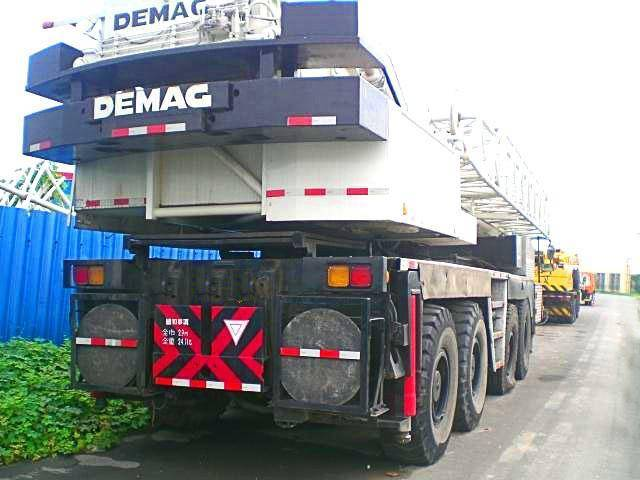 used demag truck crane 120t,demage used mobile crane