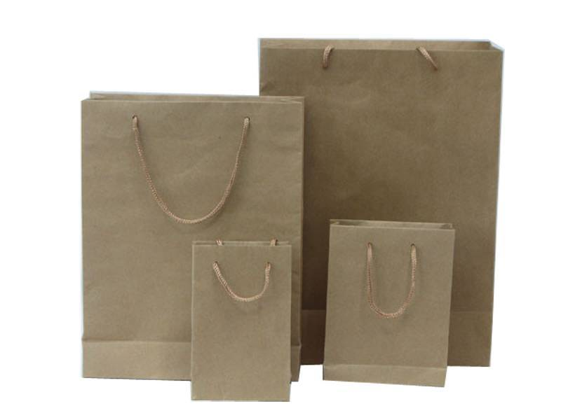 lower price recyclable durable kraft paper carrier bag