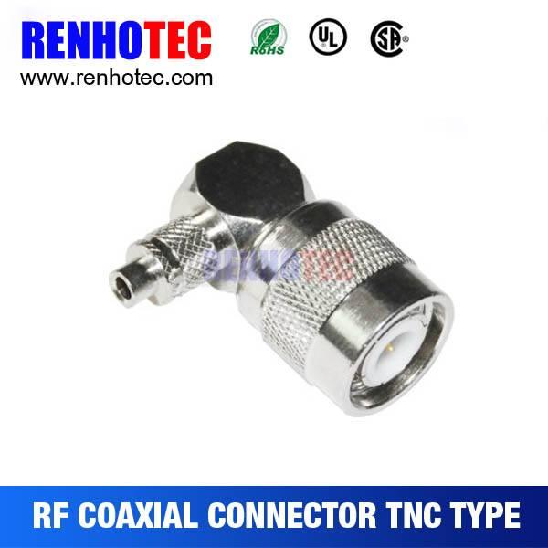 TNC Plug R/A Crimp Connector For Cable RG58/RG59/RG6/RG174