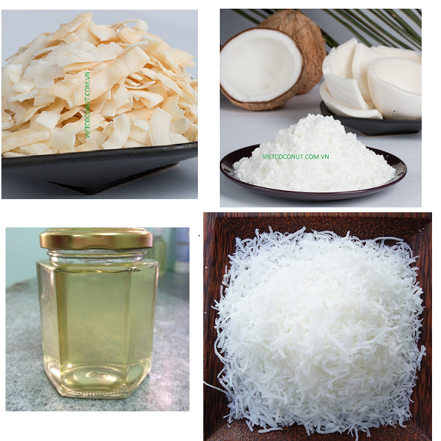 Desiccated coconut high fat/low fat, coconut milk powder