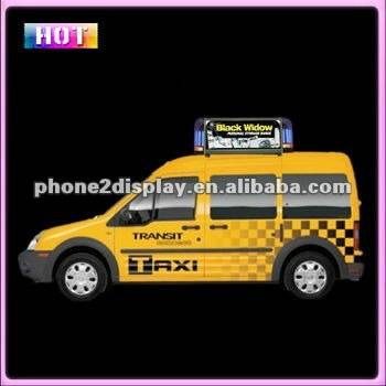 patented product led car roof advertising display P5 with 3G upload