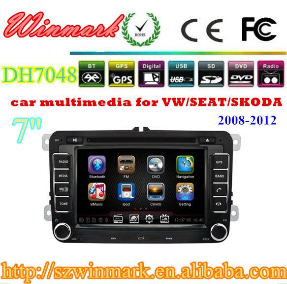 7inch car gps for volkswagen MAGOTAN with 3D Rotating UI PIP GPS BT TV IPOD RADIO 3G DH7048