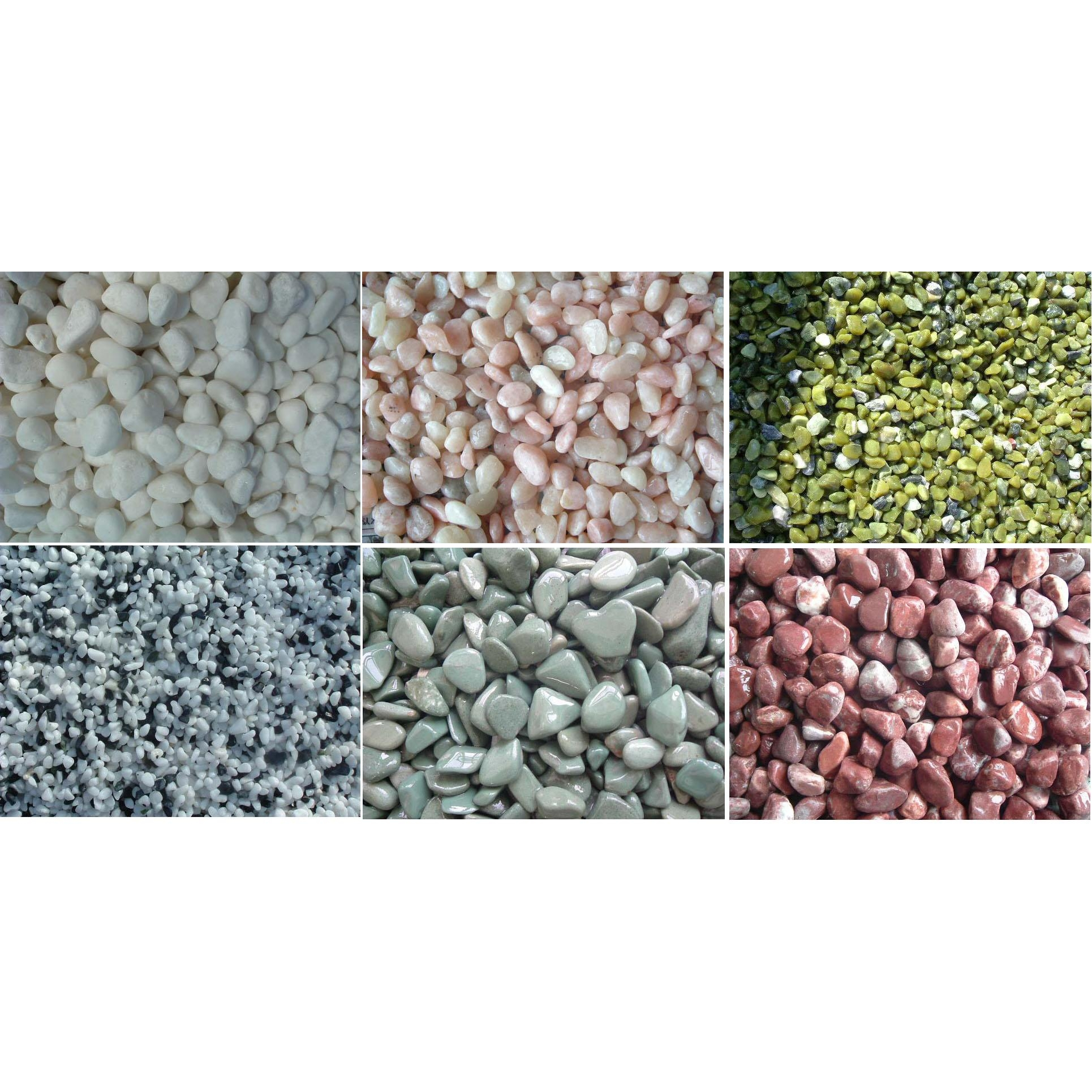 sell many sizes and colours of pebble stone from China