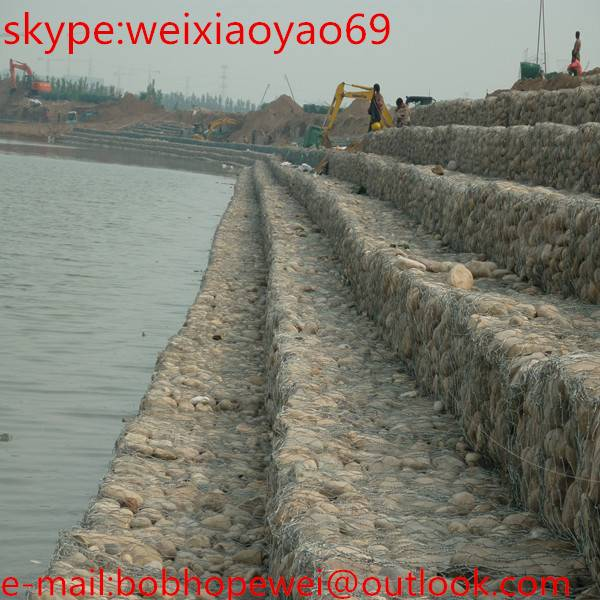 2015 Hot sale anping heng you hexagonal gabion box stone cage wire mesh