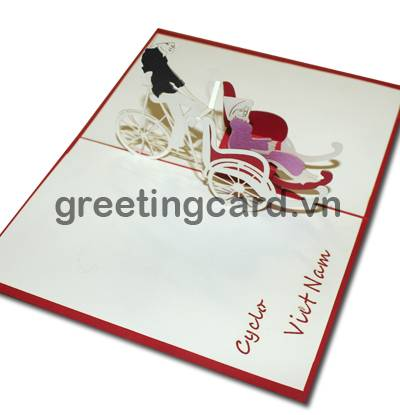 3D pop up card greeting card gift card