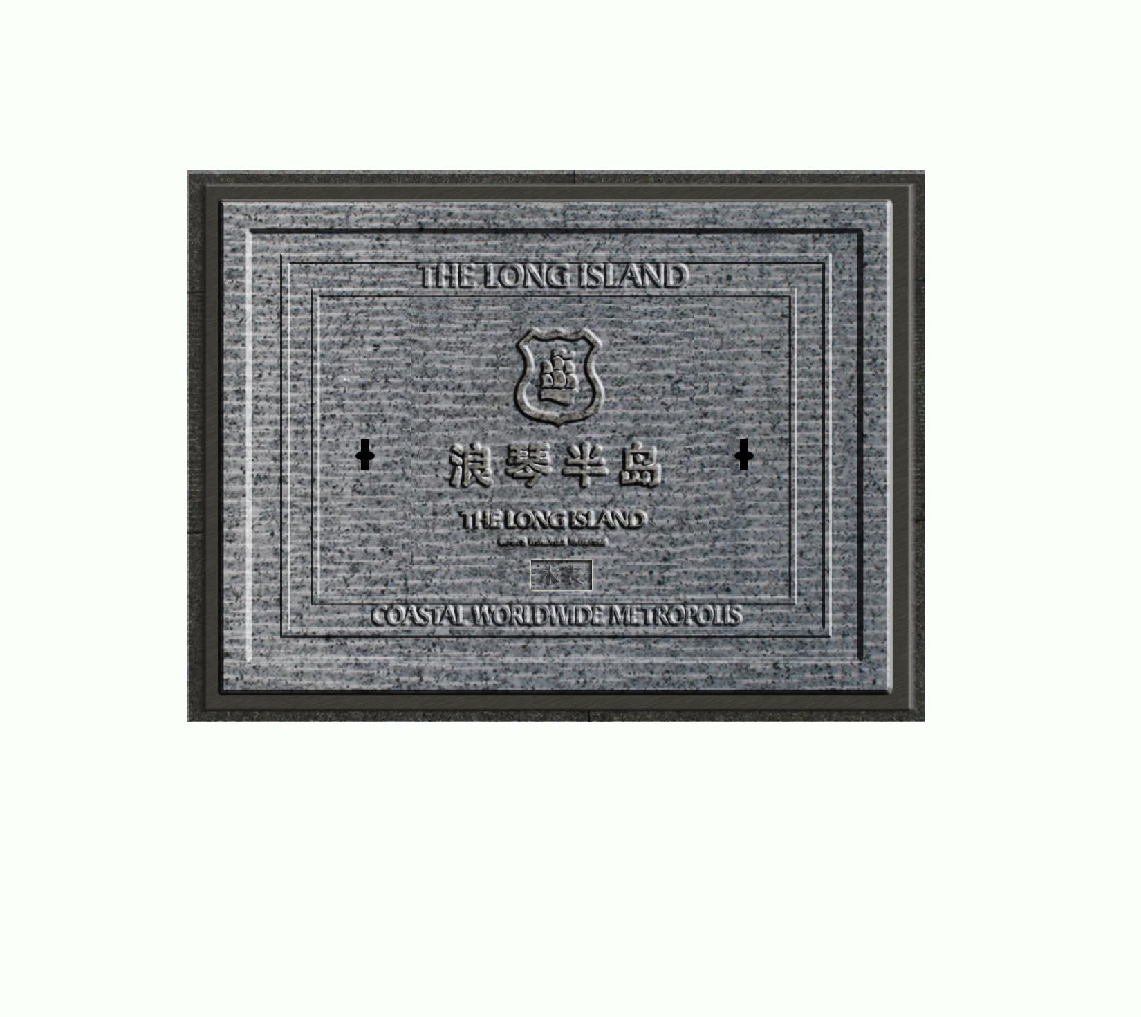 Customized anti-theft smc composite square manhole cover with CE