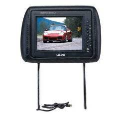 7 Real Headrest TFT LCD Monitor TV with Pillow
